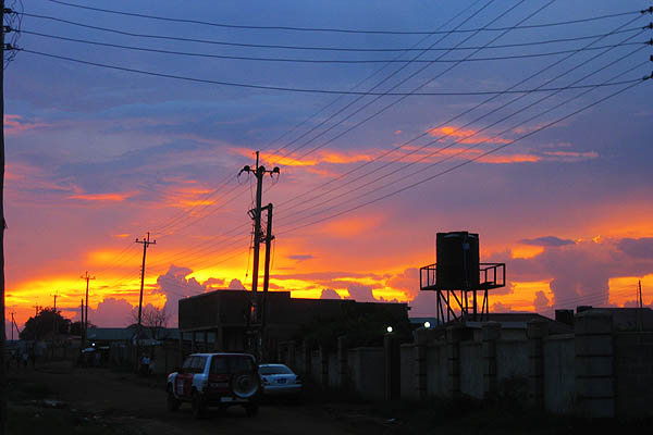 Sunset in Juba