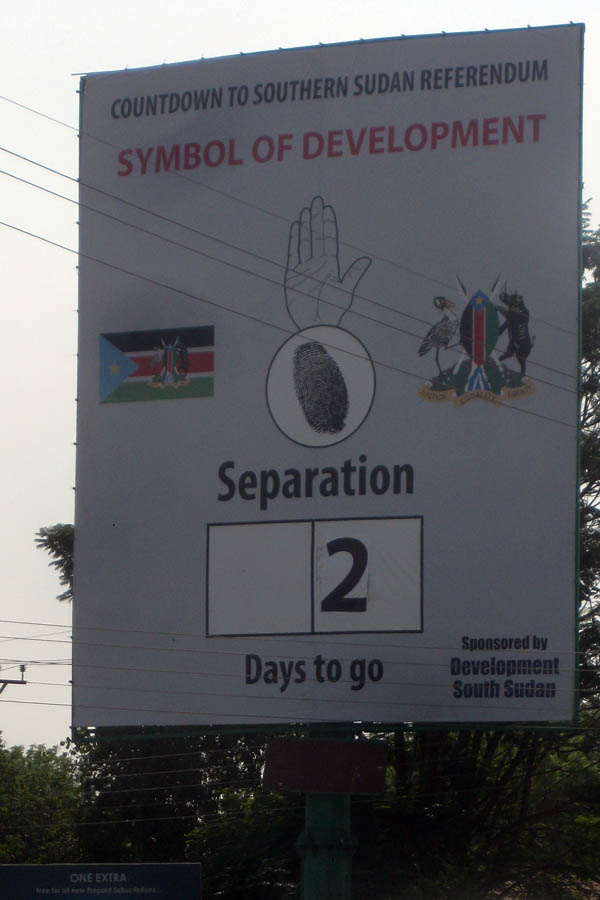 Analog countdown to South Sudan referendum