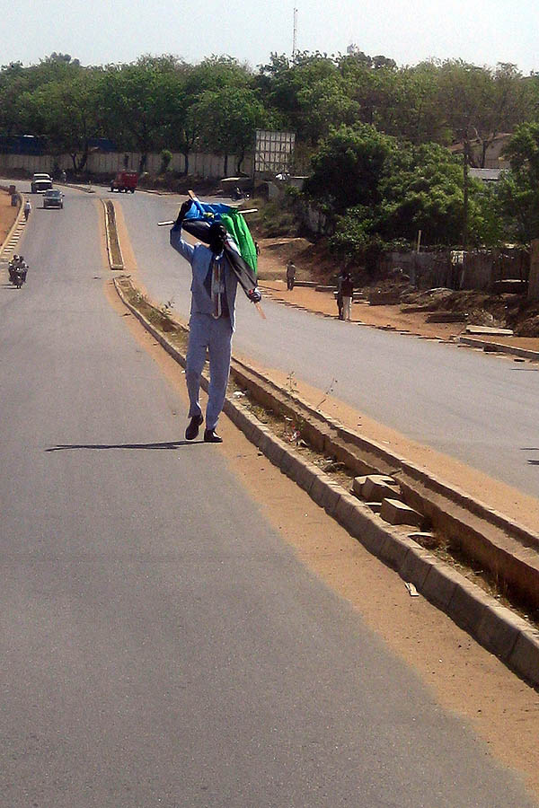 Secession supporter on Airport-Ministries Road in Juba