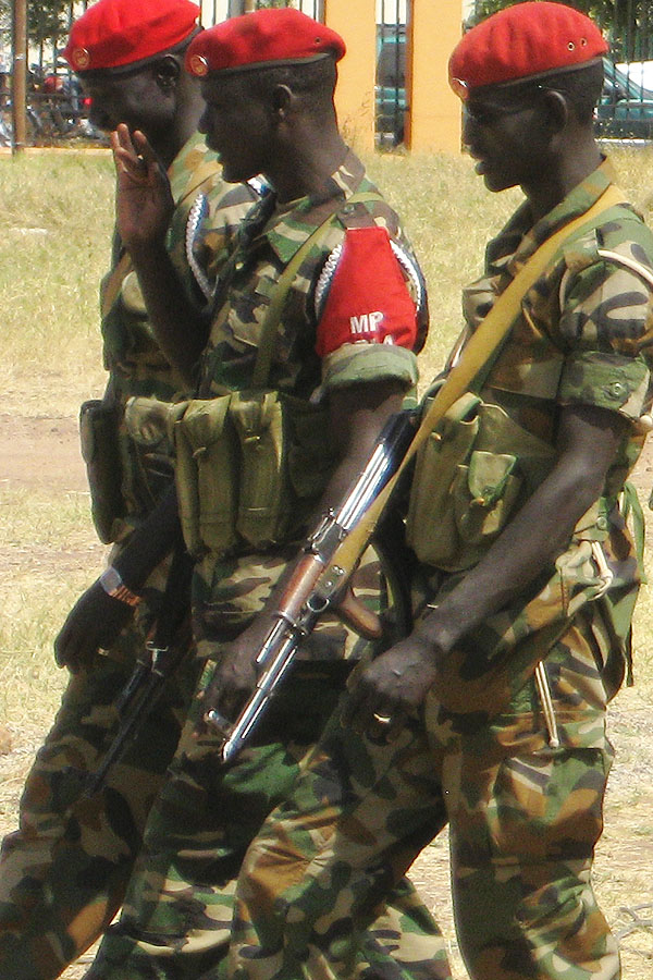 Three SPLA military police