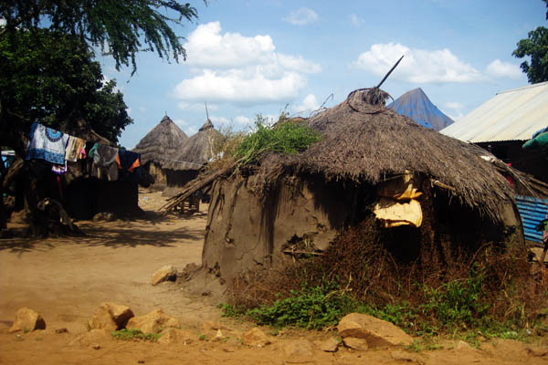 Typical tukul in Juba