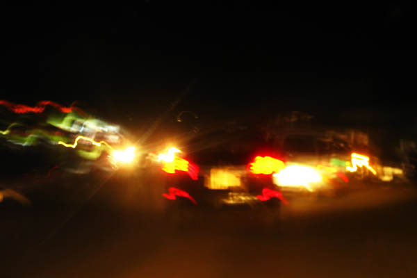 Night driving in Juba