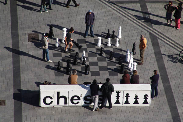 Chess in Cathedral Square, Christchurch, New Zealand