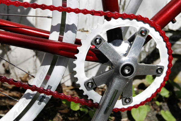 Detail: bicycle drivetrain