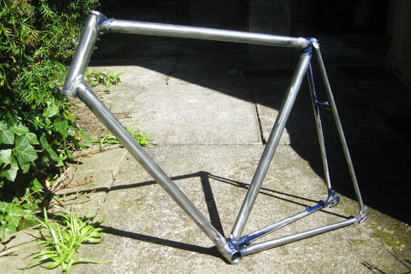 Bumblebike frame after paint removal