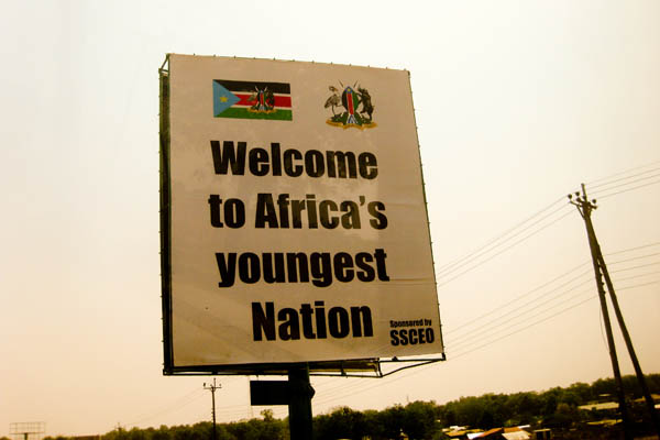Billboard in Juba, South Sudan, in February 2011