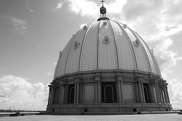 One of the smaller domes of Notre-Dame de la Paix Basilica, Yamoussoukro, Côte d'Ivoire