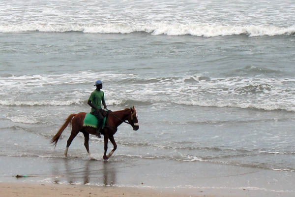Horseman on Kokrobite Beach, Ghana