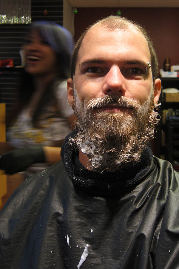 Bleaching my beard at Studio D Hair Salon