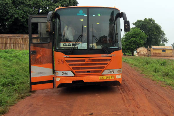 Bus broken down near Mole National Park, Ghana