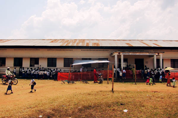 Dungu hospital vaccination site