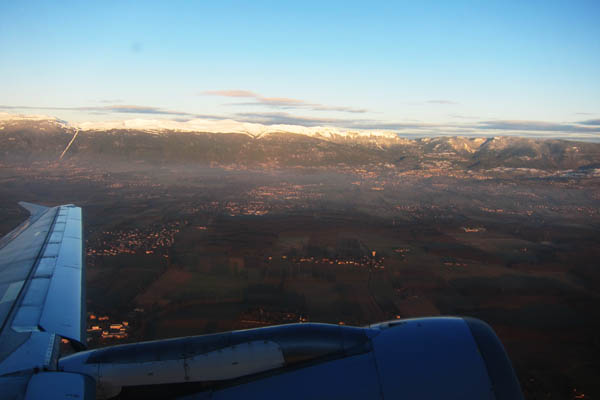 Taking off from Geneva, Switzerland