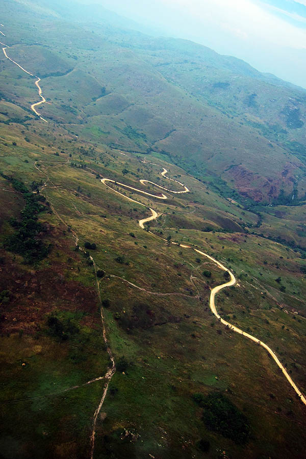 Winding road just outside Bunia, Province Orientale, Democratic Republic of Congo