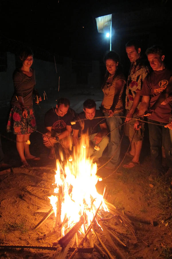 Marshmallows over the campfire with Invisible Children in Dungu, DR Congo