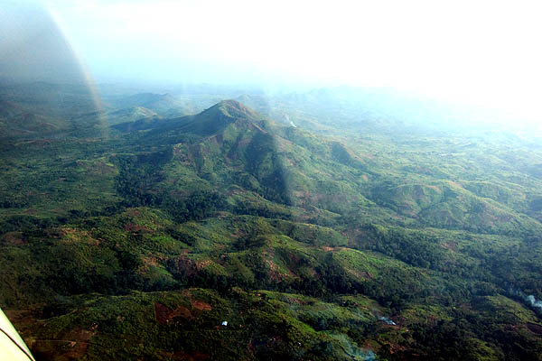 Mountains just outside Bunia, DR Congo