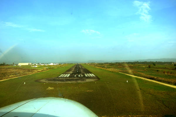 Landing at Bunia Murongo National Airport, DR Congo