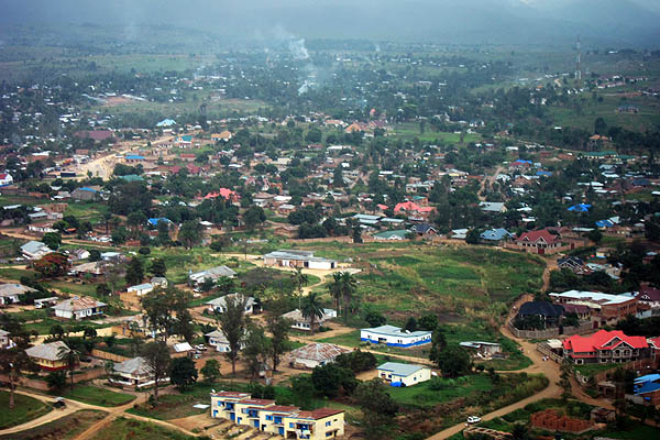 Bunia from above