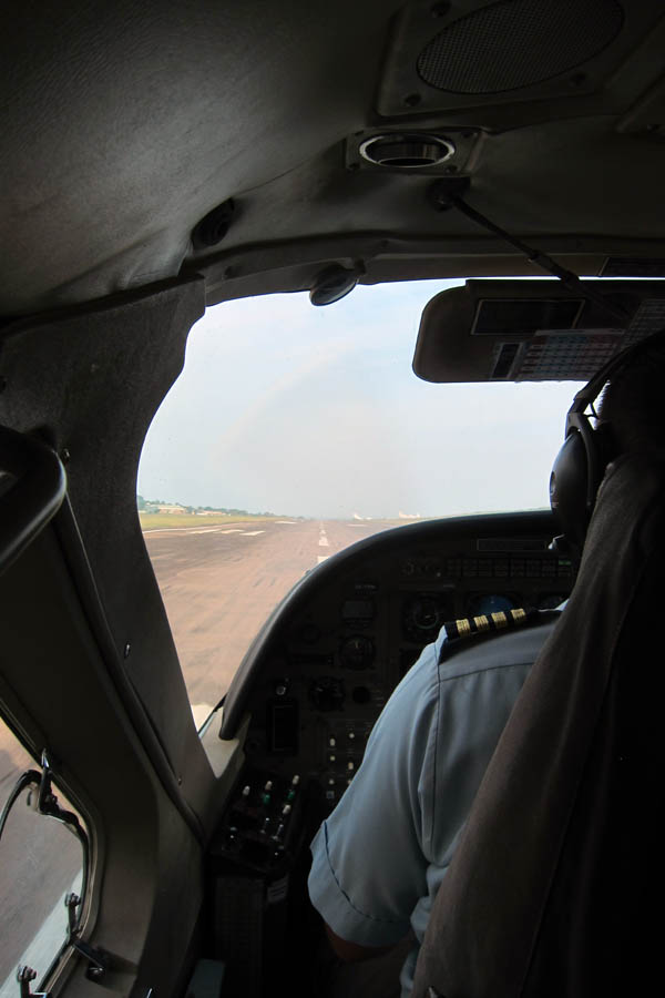 Landing at Entebbe International Airport, Uganda