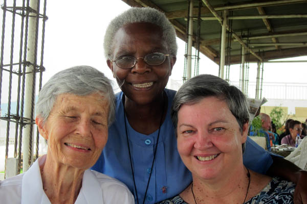Aunty Jo, Ursula, and Lynette in Kampala, Uganda