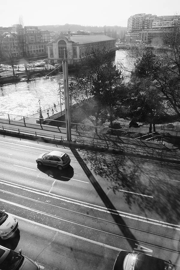 View from my hotel in Geneva