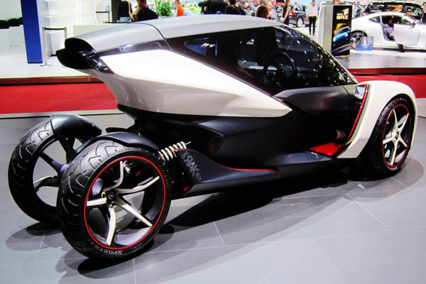 Opel RAK e electric concept car, rear side view