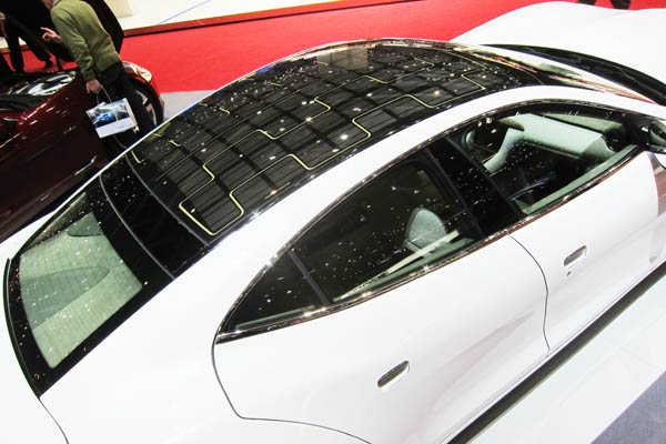 Fisker Karma solar glass roof