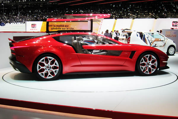 Giugiaro Brivido hybrid coupe concept car, passenger side view