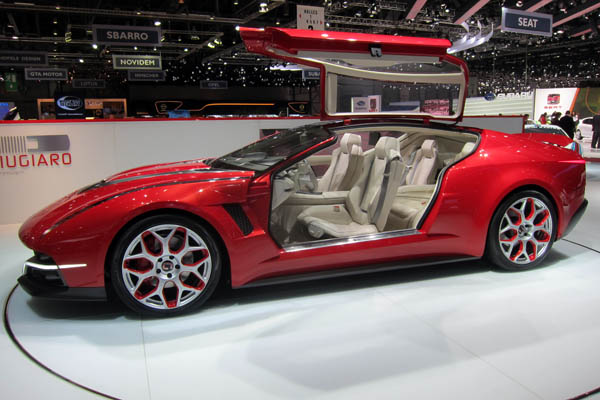 Giugiaro Brivido hybrid coupe concept car, driver side view