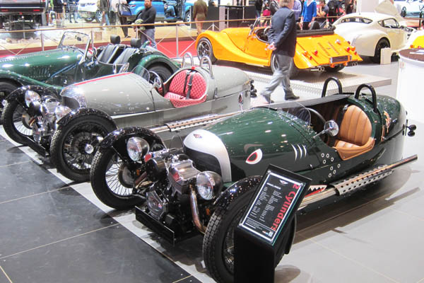 Two Morgan 3 Wheelers