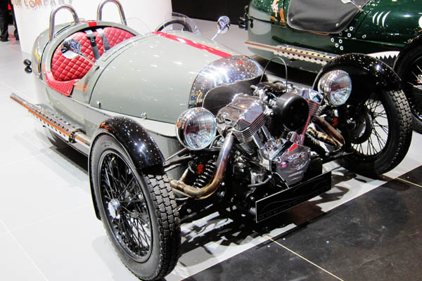 Morgan 3 Wheeler V-Twin close-up