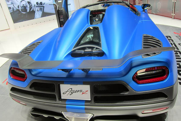2013 Koenigsegg Agera R, rear view