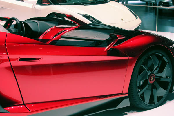 Lamborghini Aventador J, passenger side close-up