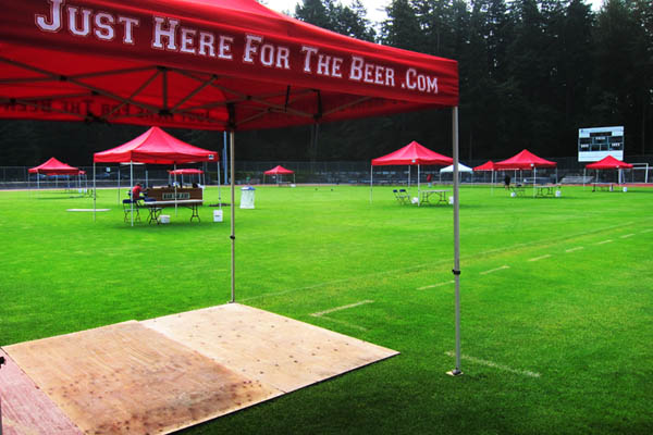 Setting up the 2012 Canada Cup of Beer