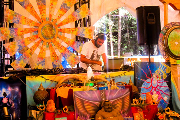 Midday trance music with DJ Zero D in the Chill Dome at Shambhala 2012