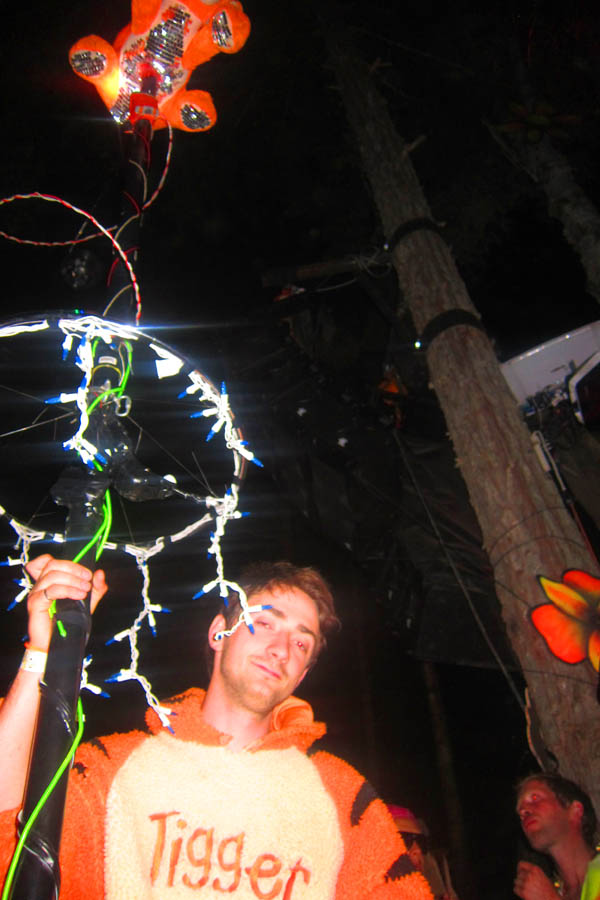 Tigger with Tigger totem at Shambhala 2012