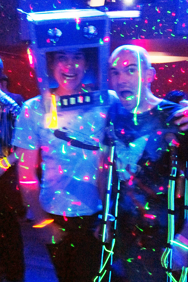 Mark and me at Moon Rock Disco - Woodstock in Space