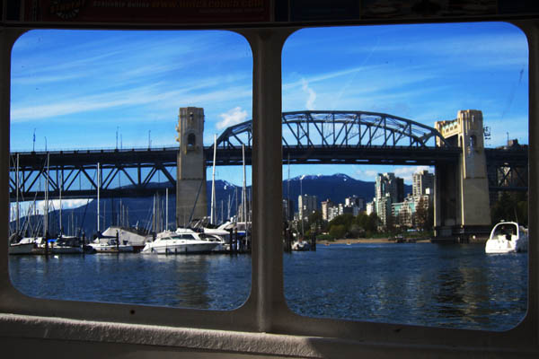 Burrard Street Bridge from a False Creek Ferry