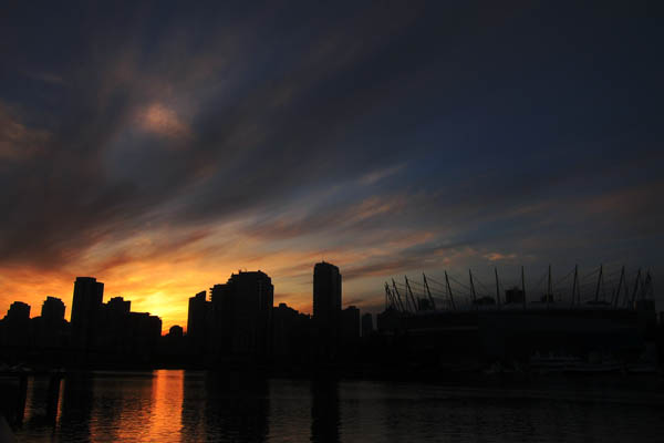 BC Place Stadium at sunset
