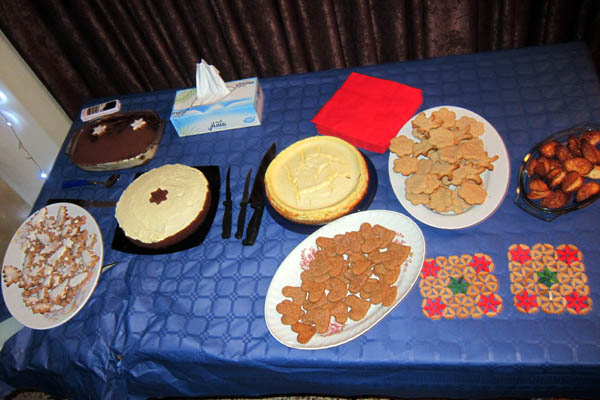 Christmas goodies in Erbil, Iraq