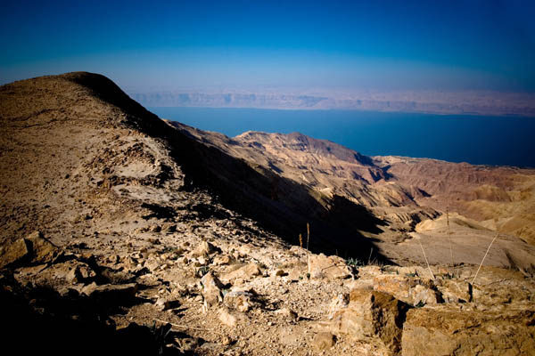 Dead Sea view from Mukawir, Jordan