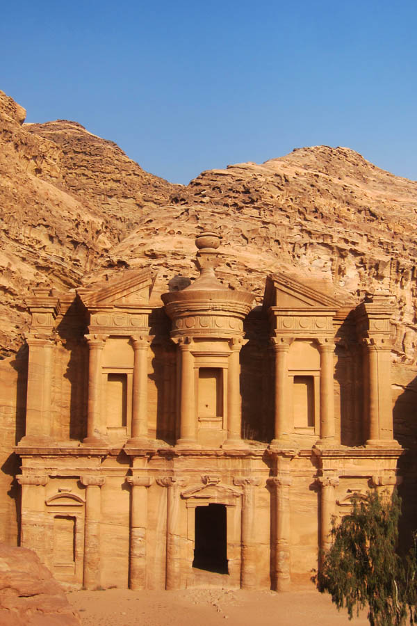 Ornate Nabatean family tomb in Petra, Jordan