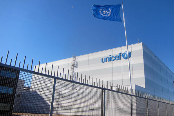 Unicef warehouse in Copenhagen, Denmark