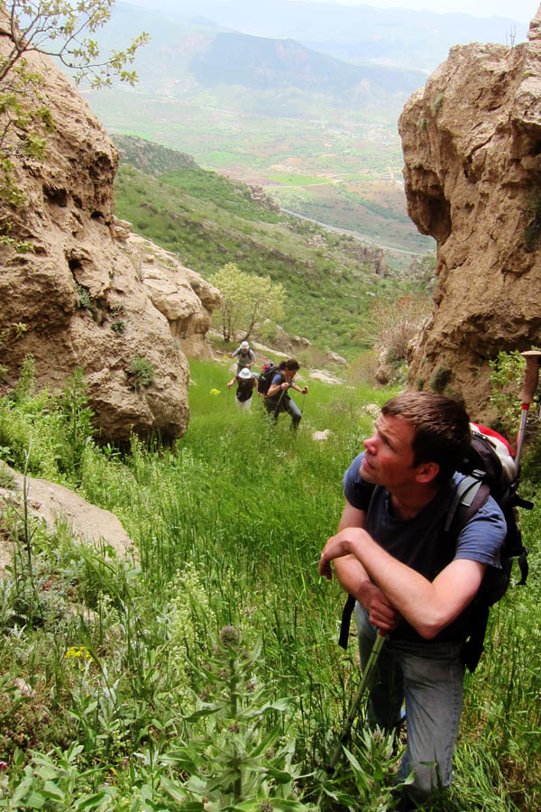 Hiking in the mountains of Kurdistan, Iraq