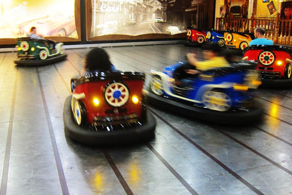 Bumper cars in Iraq