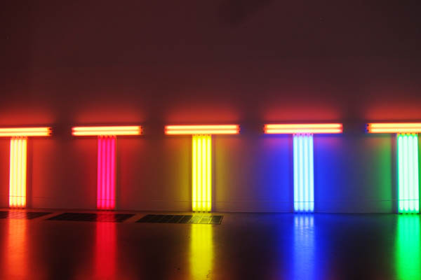 Tate Modern colourful lights exhibit