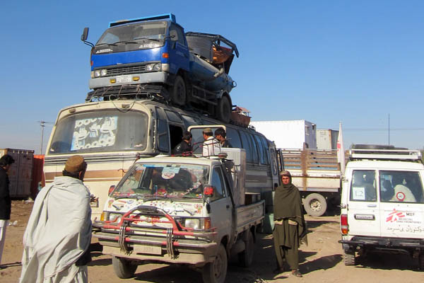 Tanker on a bus, Lashkar Gah