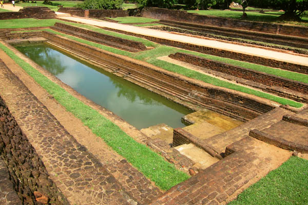 Brick water reservoir, Sigiriya