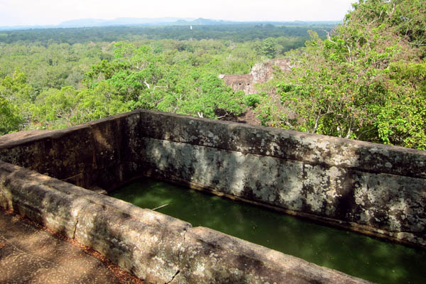 Water reservoir hewn from bedrock, Sigiriya