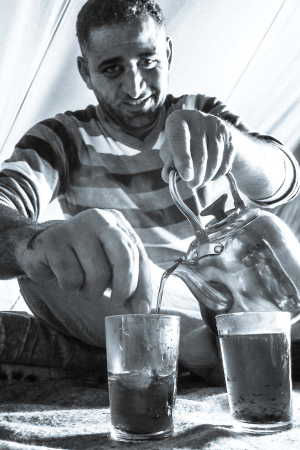 Sweet tea in Domiz Refugee Camp, Duhok, Iraq