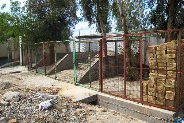 Materials storage area